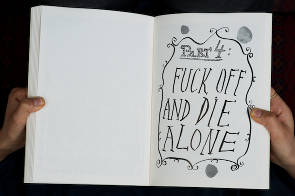 Alexander Brener and Barbara Schurz: Fuck Off and Die Alone, 2013